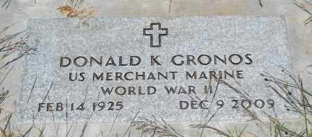 GRONOS (WWII), DONALD K - Marion County, Oregon | DONALD K GRONOS (WWII) - Oregon Gravestone Photos
