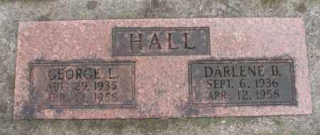 HALL, DARLENE B - Marion County, Oregon | DARLENE B HALL - Oregon Gravestone Photos