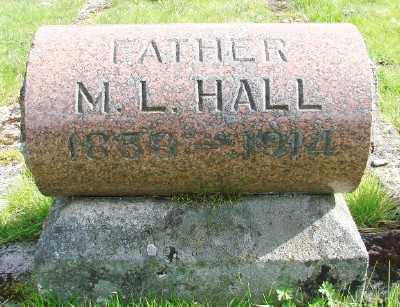 HALL, M L - Marion County, Oregon   M L HALL - Oregon Gravestone Photos