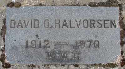 HALVORSEN (WWII), DAVID O - Marion County, Oregon | DAVID O HALVORSEN (WWII) - Oregon Gravestone Photos