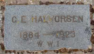 HALVORSEN (WWI), G E - Marion County, Oregon | G E HALVORSEN (WWI) - Oregon Gravestone Photos
