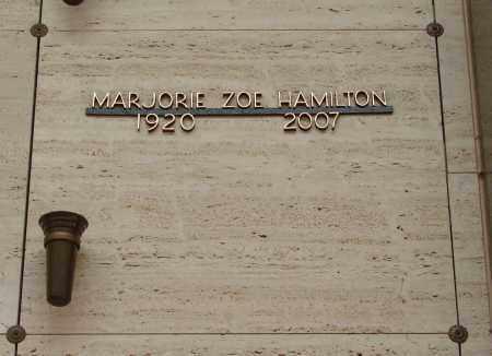 HAMILTON, MARJORIE ZOE - Marion County, Oregon | MARJORIE ZOE HAMILTON - Oregon Gravestone Photos
