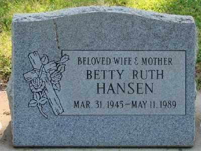 HANSEN, BETTY RUTH - Marion County, Oregon | BETTY RUTH HANSEN - Oregon Gravestone Photos