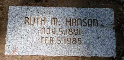 MCCLELLAN HANSON, RUTH - Marion County, Oregon   RUTH MCCLELLAN HANSON - Oregon Gravestone Photos