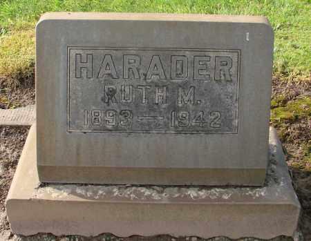 HARADER, RUTH M - Marion County, Oregon | RUTH M HARADER - Oregon Gravestone Photos