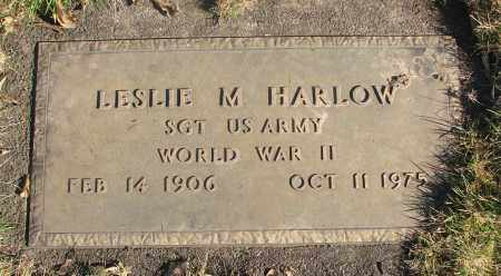 HARLOW (WWII), LESLIE M - Marion County, Oregon | LESLIE M HARLOW (WWII) - Oregon Gravestone Photos