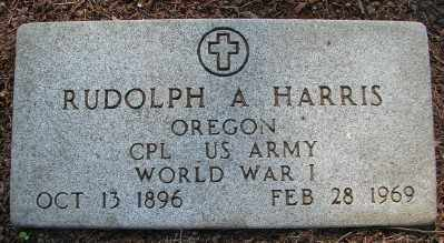 HARRIS (WWI), RUDOLPH A - Marion County, Oregon | RUDOLPH A HARRIS (WWI) - Oregon Gravestone Photos