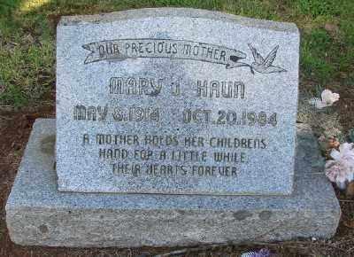 HAUN, MARY JOHANNA - Marion County, Oregon   MARY JOHANNA HAUN - Oregon Gravestone Photos