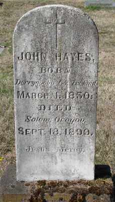 HAYES, JOHN - Marion County, Oregon | JOHN HAYES - Oregon Gravestone Photos