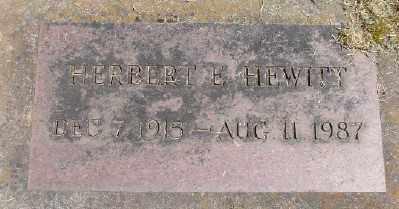 HEWITT, HERBERT E - Marion County, Oregon | HERBERT E HEWITT - Oregon Gravestone Photos