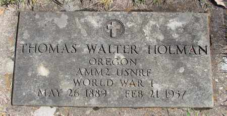 HOLMAN (WWI), THOMAS WALTER - Marion County, Oregon   THOMAS WALTER HOLMAN (WWI) - Oregon Gravestone Photos