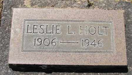 HOLT, LESLIE L - Marion County, Oregon | LESLIE L HOLT - Oregon Gravestone Photos