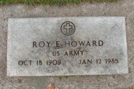 HOWARD (SERV), ROY E - Marion County, Oregon   ROY E HOWARD (SERV) - Oregon Gravestone Photos