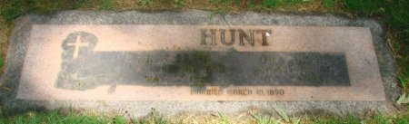 HUNT, ALFRED T - Marion County, Oregon | ALFRED T HUNT - Oregon Gravestone Photos