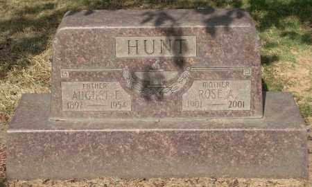 HUNT, AUGUST F - Marion County, Oregon | AUGUST F HUNT - Oregon Gravestone Photos