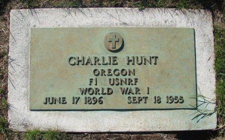 HUNT, CHARLIE - Marion County, Oregon | CHARLIE HUNT - Oregon Gravestone Photos