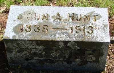 HUNT, JOHN ABRAM - Marion County, Oregon | JOHN ABRAM HUNT - Oregon Gravestone Photos