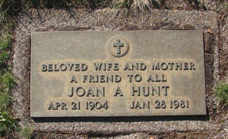 HUNT, JOAN A - Marion County, Oregon   JOAN A HUNT - Oregon Gravestone Photos