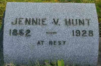 HUNT, JENNIE V - Marion County, Oregon | JENNIE V HUNT - Oregon Gravestone Photos