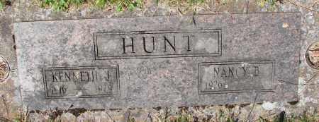 HUNT, KENNETH J - Marion County, Oregon | KENNETH J HUNT - Oregon Gravestone Photos
