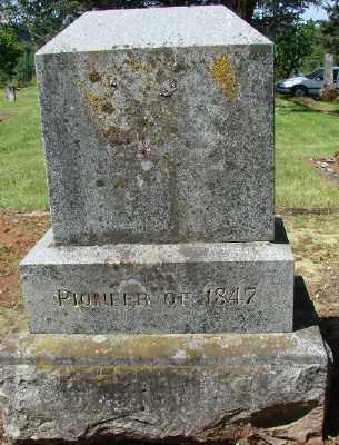 HUNT, MONUMENT REVERSE - Marion County, Oregon | MONUMENT REVERSE HUNT - Oregon Gravestone Photos