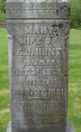 HUNT, MARY - Marion County, Oregon   MARY HUNT - Oregon Gravestone Photos