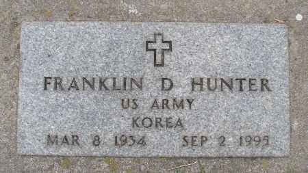 HUNTER (KOR), FRANKLIN D - Marion County, Oregon   FRANKLIN D HUNTER (KOR) - Oregon Gravestone Photos