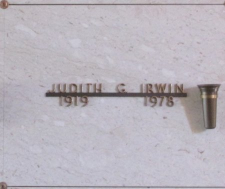 IRWIN, JUDITH GENEVA - Marion County, Oregon | JUDITH GENEVA IRWIN - Oregon Gravestone Photos