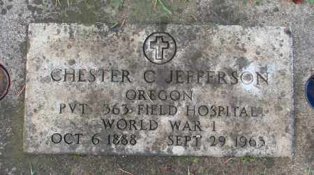 JEFFERSON (WWI), CHARLES C - Marion County, Oregon | CHARLES C JEFFERSON (WWI) - Oregon Gravestone Photos