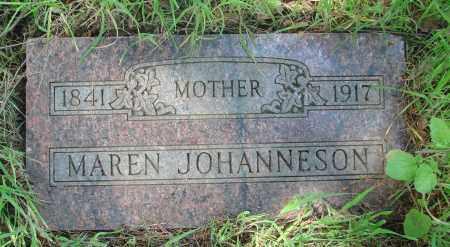 JOHANNESON, MAREN - Marion County, Oregon   MAREN JOHANNESON - Oregon Gravestone Photos