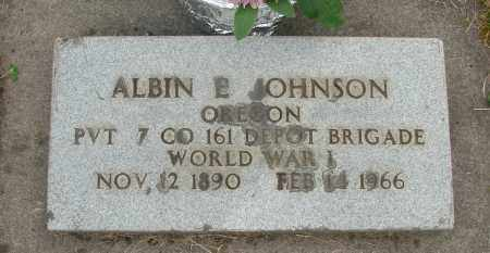 JOHNSON, ALBIN E - Marion County, Oregon | ALBIN E JOHNSON - Oregon Gravestone Photos