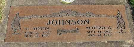 JOHNSON, ALONZO A - Marion County, Oregon | ALONZO A JOHNSON - Oregon Gravestone Photos