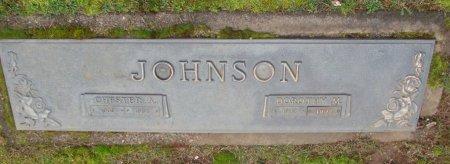 JOHNSON, CHESTER A - Marion County, Oregon | CHESTER A JOHNSON - Oregon Gravestone Photos