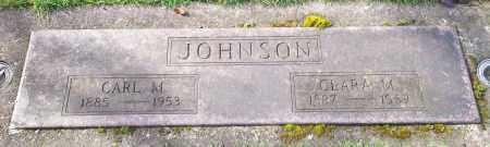 JOHNSON, CARL M - Marion County, Oregon | CARL M JOHNSON - Oregon Gravestone Photos