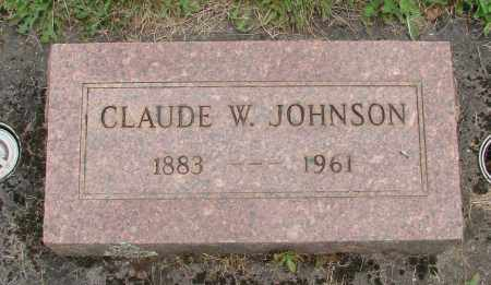 JOHNSON, CLAUDE W - Marion County, Oregon | CLAUDE W JOHNSON - Oregon Gravestone Photos