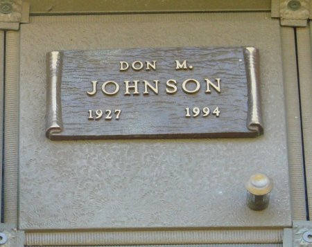 JOHNSON, DON M - Marion County, Oregon   DON M JOHNSON - Oregon Gravestone Photos