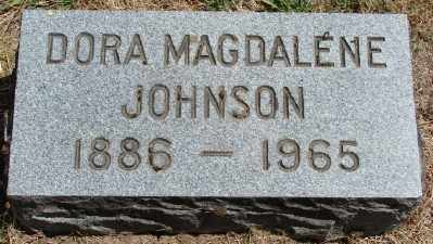 JOHNSON, DORA MAGDALENE - Marion County, Oregon | DORA MAGDALENE JOHNSON - Oregon Gravestone Photos