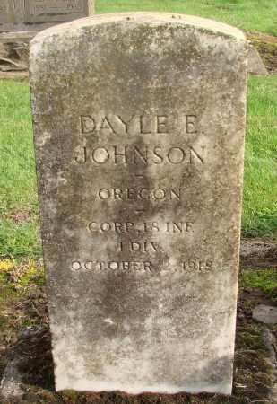 JOHNSON, DAYLE E - Marion County, Oregon | DAYLE E JOHNSON - Oregon Gravestone Photos