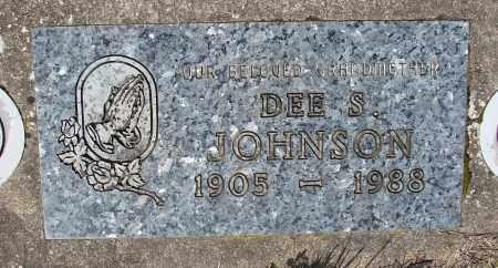 JOHNSON, DEE S - Marion County, Oregon | DEE S JOHNSON - Oregon Gravestone Photos