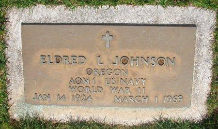 JOHNSON, ELDRED L - Marion County, Oregon | ELDRED L JOHNSON - Oregon Gravestone Photos