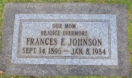 JOHNSON, FRANCES E - Marion County, Oregon | FRANCES E JOHNSON - Oregon Gravestone Photos