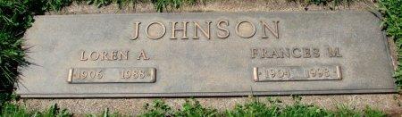JOHNSON, FRANCES M - Marion County, Oregon | FRANCES M JOHNSON - Oregon Gravestone Photos