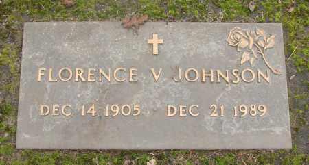JOHNSON, FLORENCE V - Marion County, Oregon   FLORENCE V JOHNSON - Oregon Gravestone Photos