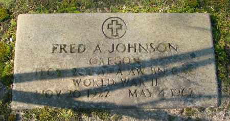 JOHNSON, FRED A - Marion County, Oregon | FRED A JOHNSON - Oregon Gravestone Photos