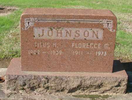 JOHNSON, FLORENCE M - Marion County, Oregon | FLORENCE M JOHNSON - Oregon Gravestone Photos