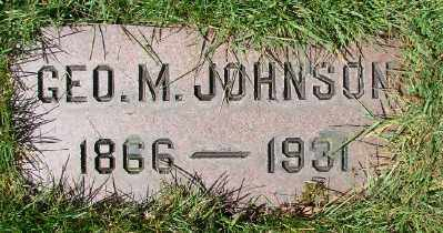 JOHNSON, GEORGE M - Marion County, Oregon | GEORGE M JOHNSON - Oregon Gravestone Photos