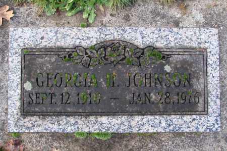 JOHNSON, GEORGIA H - Marion County, Oregon | GEORGIA H JOHNSON - Oregon Gravestone Photos