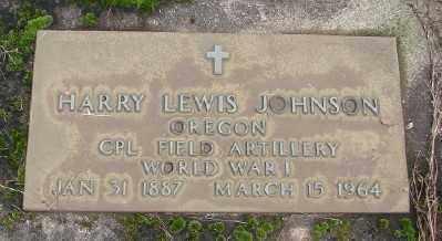 JOHNSON, HARRY LEWIS - Marion County, Oregon | HARRY LEWIS JOHNSON - Oregon Gravestone Photos