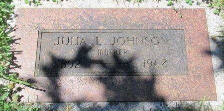 JOHNSON, JULIA L - Marion County, Oregon | JULIA L JOHNSON - Oregon Gravestone Photos