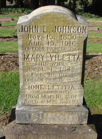 JOHNSON, MARY VIOLETTA - Marion County, Oregon | MARY VIOLETTA JOHNSON - Oregon Gravestone Photos